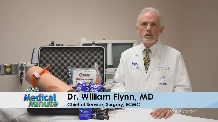 ECMC Medical Minute Dr. William Flynn Jr. Stop The Bleed