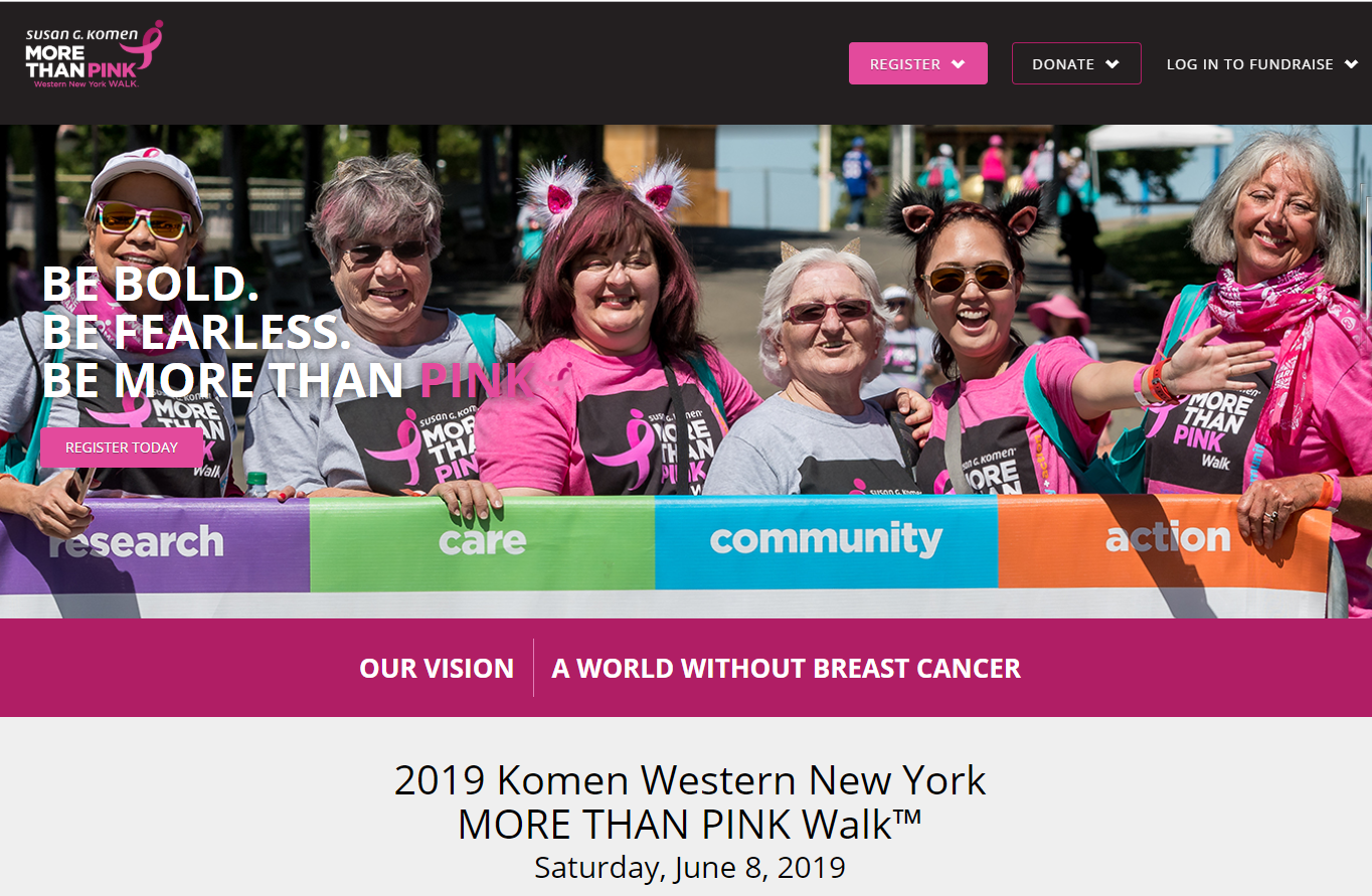 2019 Komen WNY More than pink walk